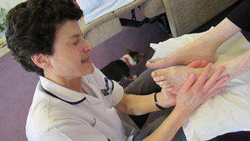 Residents at Harley Grange enjoy monthly pamper session